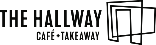 The logo of Hallway Café.